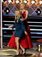 Reese Witherspoon and Nicole Kidman of 'Big Little Lies' accept the Outstanding Limited Series award onstage during the 69th Annual Primetime Emmy Awards at Microsoft Theater on September 17, 2017 in Los Angeles, California. Picture: Getty