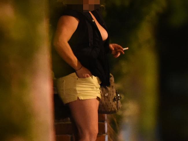 A sex worker on the streets of St Kilda.