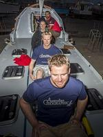 Pictured is the team of rowers including Victorian Policeman Tim Spiteri who will row from Geraldton to South Africa in the hope of raising $250k for MS. His mum is a sufferer. We're talking to Tim, who is in Gero, about the voyage and also to his mum. MUST CREDIT PICTURES : RICHARD ROSSITER.