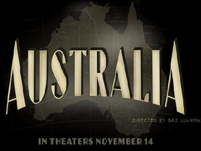 "No Tasmania on the ""Australia"" movie poster."