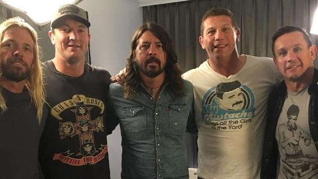 Foo Fighters' Dave Grohl and Taylor Hawkins with