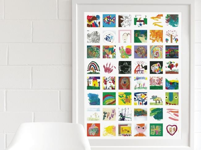 Home focus wall art Artrooms kids art collage from $79 unframed Picture: Supplied