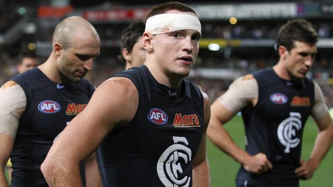 Mitch Robinson might be given the boot by Carlton. Picture: Michael Klein