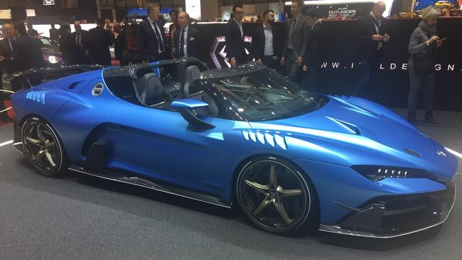 Italdesign's drop-top Duerte was popular at the 2018 Geneva motor show. Pic: Supplied.