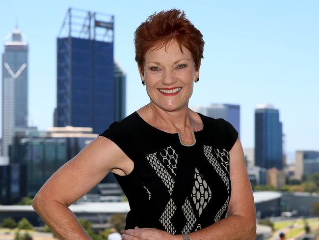 Support for Pauline Hanson is on the rise. Picture: Colin Murty