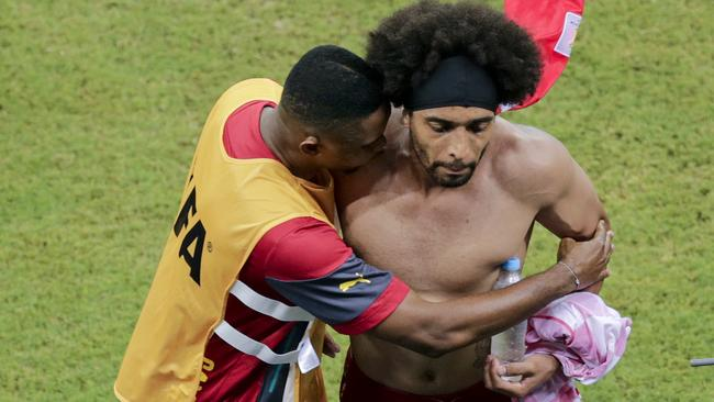 Cameroon's Benoit Assou-Ekotto lost his cool during his side's loss to Croatia.