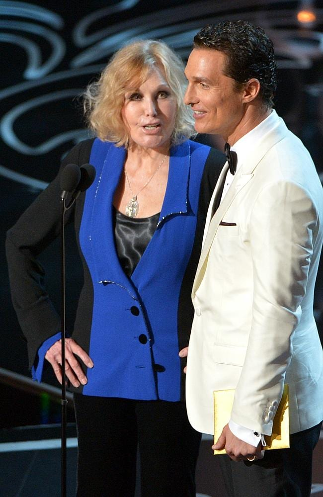 Novak presented an award with Matthew McConaughey in one of the most talked-about segments of the night. Picture: AP