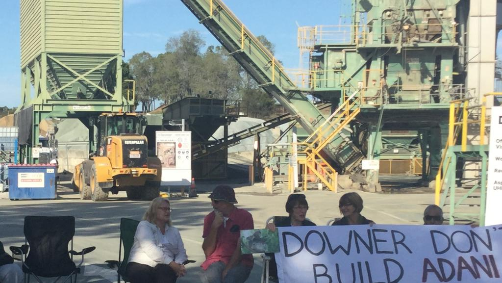 An anti-Adani mine protest at Brendale.