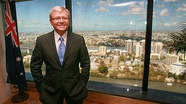 Taking us backwards ... James Packer has slammed Kevin Rudd. Picture: Gary Ramage