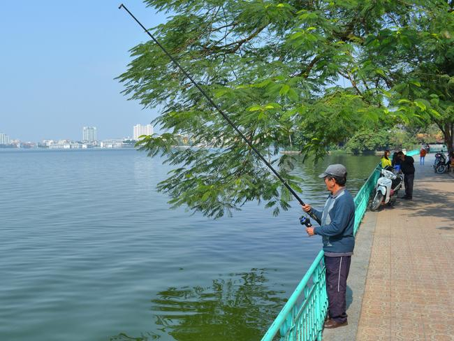 Some of the best views in Hanoi can be found along West Lake. Picture: Ronan O'Connell