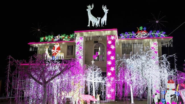 The Christmas light display at 52 Forest Oak Dr, Upper Coomera. Photo: Jerad Williams