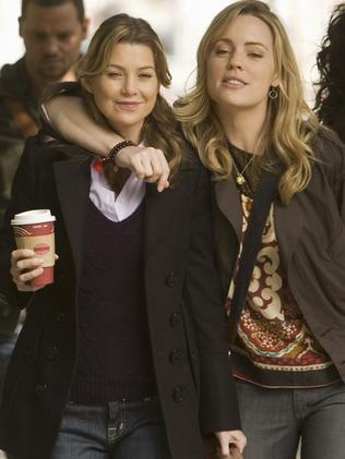Melissa George and Ellen Pompeo on Grey's Anatomy. Picture: Supplied