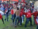 World Cup Piazza Northbridge Chile fans celebrate