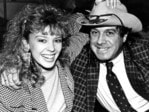 Molly Meldrum and Kylie Minogue in 1987.