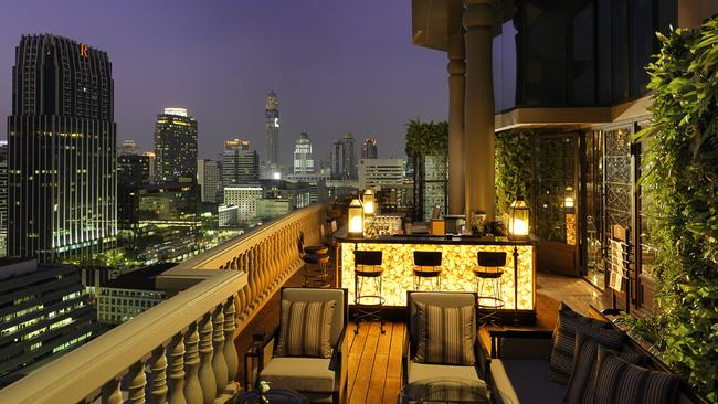 The Speakeasy Bar crowns Muse Hotel in Bangkok. Picture: supplied