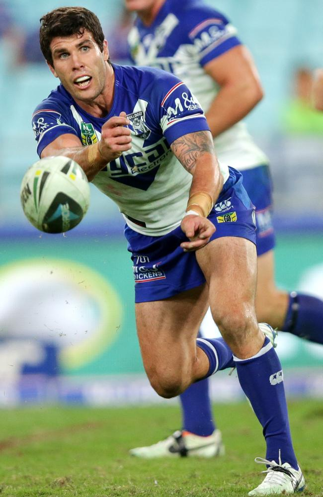 Bulldog's Michael Ennis in action for Canterbury Bankstown Bulldogs.