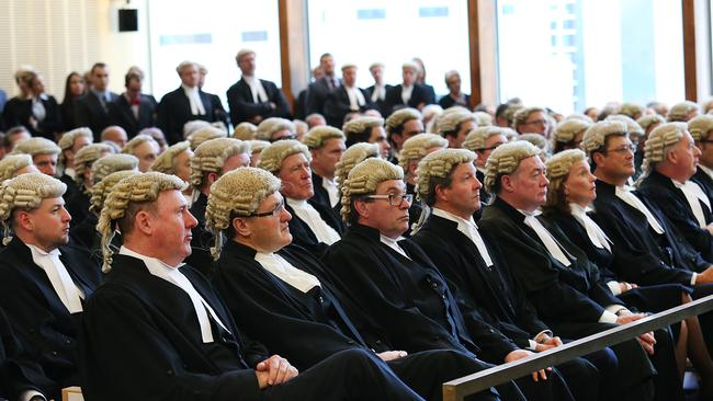 Senior members of Queensland's legal fraternity at the ceremony. Pictures: Jack Tran / The Courier Mail