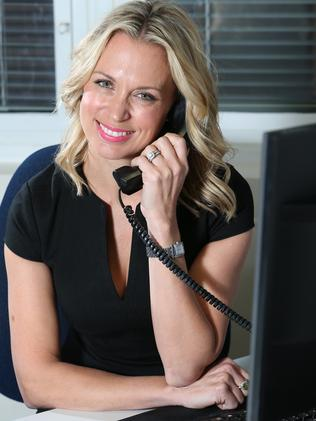 Recruiter Lisa Morris keeps in touch with jobseekers. Picture: Stephen Laffer