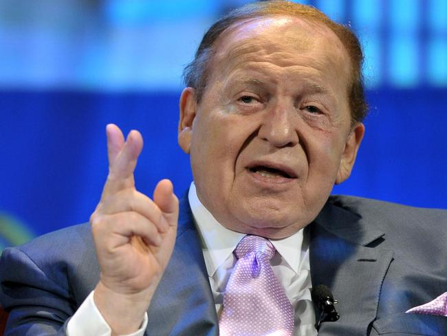 Sheldon Adelson is a major Republican donor. Picture: Miles Clarke/AFP