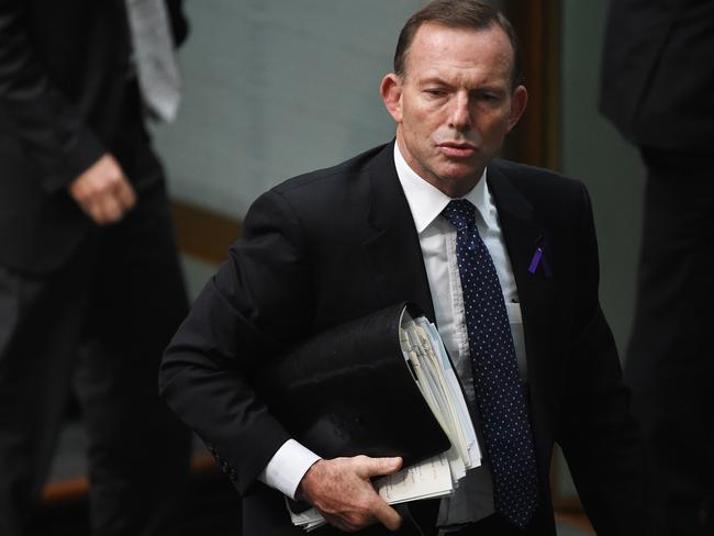 Tony Abbott. ... the former prime minister believes the military operation in Syria should be intensified. Picture: Mick Tsikas/AAP