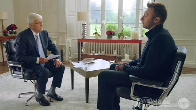 Ian Thorpe 'came out' in an interview with Michael Parkinson on Channel 10.