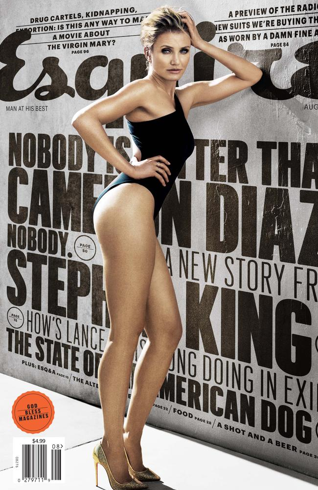 Cameron Diaz looks stunning on the cover of the August issue of  <i>Esquire</i>.