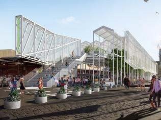 Artist's impression of the (revised) market pavilion for the Queen Victoria Market renewal project. The market will house traders who are displaced when the main redevelopment begins. Pic: City of Melbourne