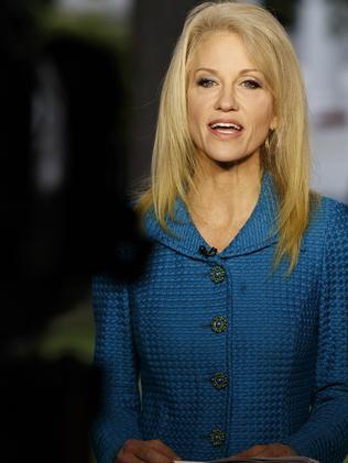 Kellyanne Conway, senior adviser to President Donald Trump, put much of the rationale for James Comey's sacking on Rod Rosenstein's memo. Picture: AP