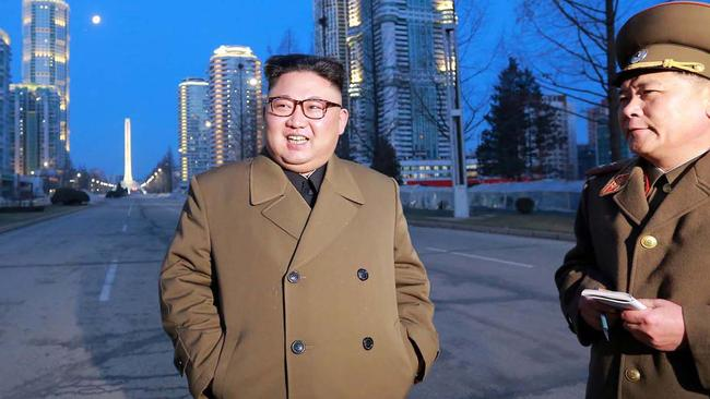 Kim Jong-un is talking tough ahead of his late grand father's birthday.