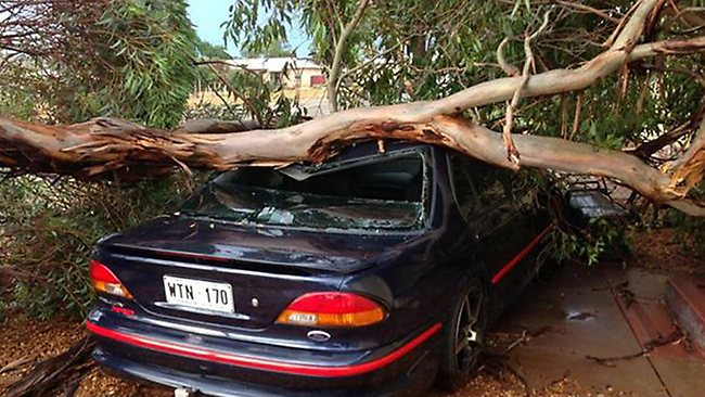 Whyalla storm. Picture: James Lockhart, courtesy of Whyalla News.
