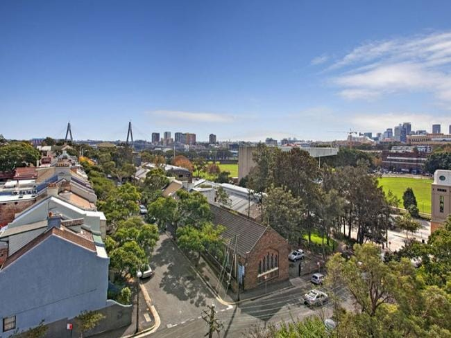 OK, so the view towards the city is actually pretty nice. Picture: Central Sydney Realty