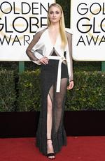 Sophie Turner attends the 74th Annual Golden Globe Awards at The Beverly Hilton Hotel on January 8, 2017 in Beverly Hills, California. Picture: Getty