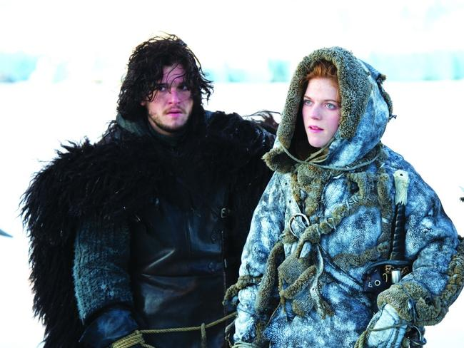 Dating ... Game of Thrones stars Kit Harington and Rose Leslie are back on. Picture: Supplied
