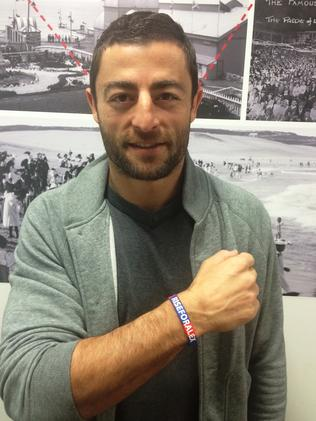 Minichiello supporting the Rise For Alex campaign.