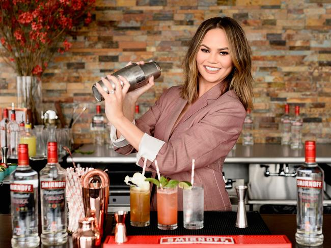 Chrissy Teigen partners with Smirnoff Vodka earlier this year.