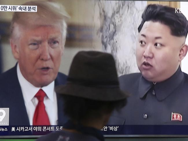 US President Donald Trump and North Korean leader Kim Jong-un. Picture: AP