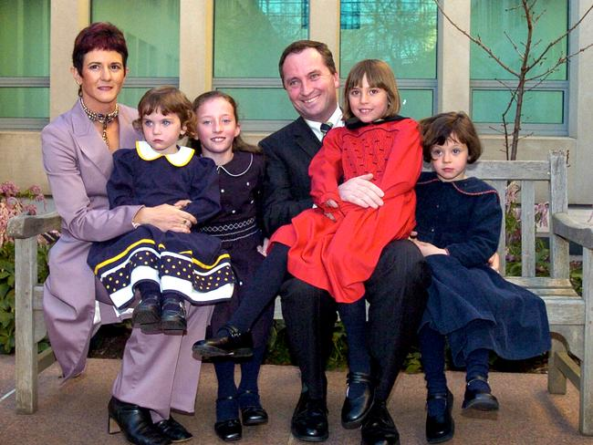 The family was all together when Barnaby Joyce was sworn in as a Senator in 2005. Picture: Ray Strange