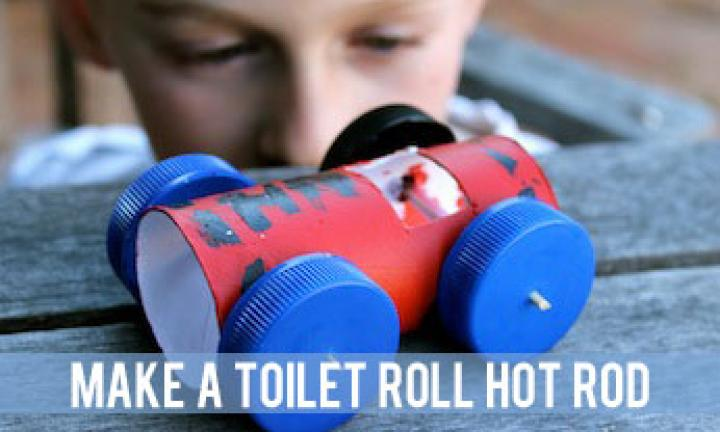 Toilet roll hot rods