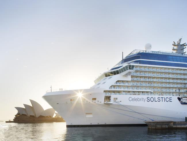 Celebrity Solstice in Sydney Harbour. Picture: CLIA