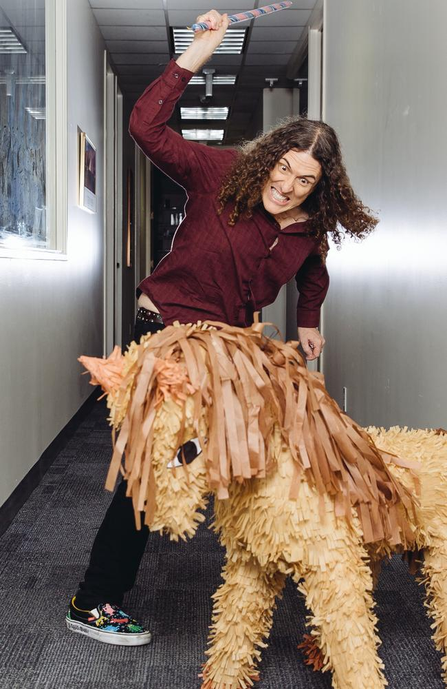 """I am not too proud to say I really like any validation."" says Yankovic, pictured at a photoshoot in LA."