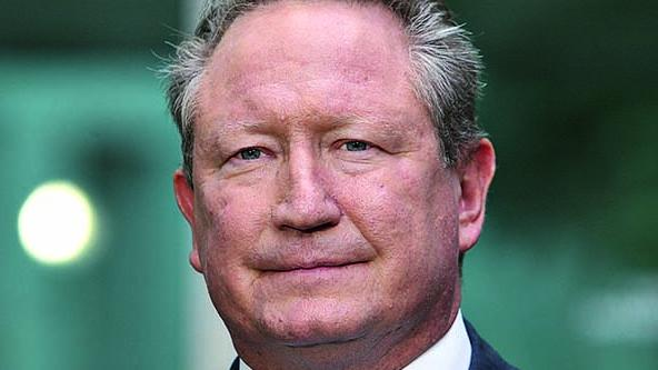 Andrew Forrest at Parliament House in Canberra. Picture: Kym Smith