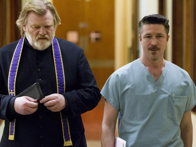 Gillen, right, couldn't pass up he chance to work with Brendan Gleeson, left, in  <i>Calvary</i>.