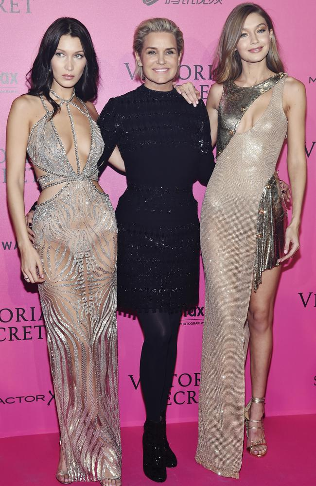 Model material! Bella, Yolanda and Gigi Hadid at the Victoria's Secret runway show in 2016. Picture: Getty Images