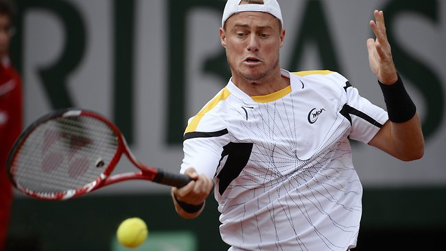 Lleyton Hewitt was gallant in his five-set loss to Gilles Simon at the French Open.