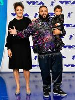 DJ Khaled, Nicole Tuck and son Asahd Tuck Khaled attends the 2017 MTV Video Music Awards at The Forum on August 27, 2017 in Inglewood, California. Picture: Getty