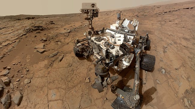 This photo released by NASA shows a self-portrait taken by the NASA rover Curiosity in Gale Crater on Mars. Measurements of the Martian air by the rover found its mostly made of carbon dioxide with traces of other gases - but no methane.