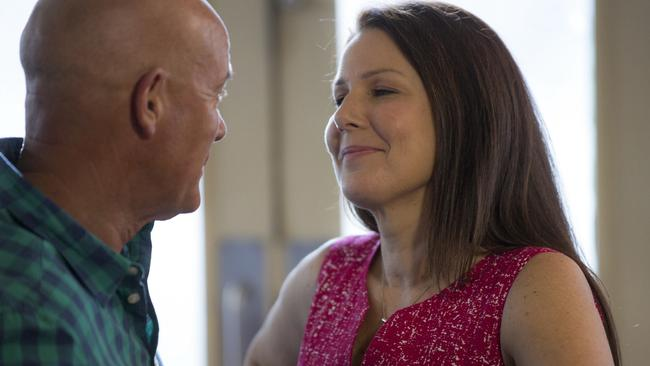 Turbulent...It's been a troubled relationship for Julia Morris' character, Gemma, and her husband Lewis Crabb played by Gary Sweet. Picture: Greg Noakes