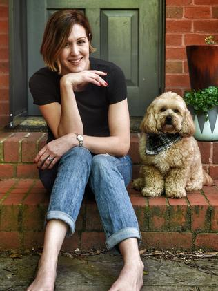 Anna Streater said she had a series of difficulties finding a rental home that would allow her dog Ron, despite presenting positive references for him. Picture: Tony Gough