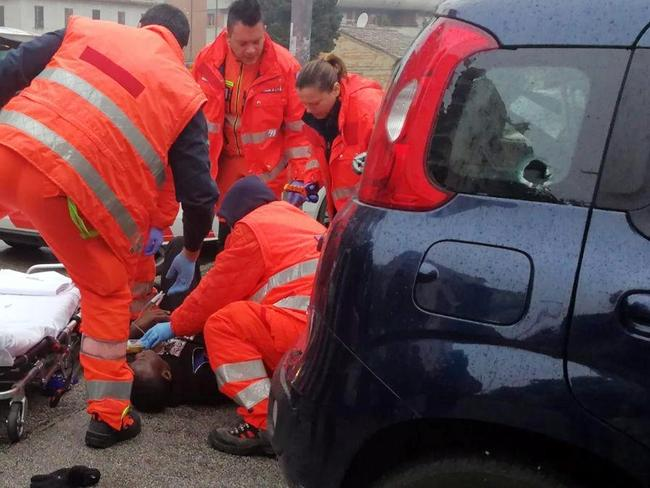 The city of Macerata is reeling from the drive-by attack. Picture: ANSA via AP