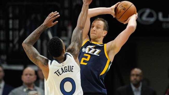 Joe Ingles has become a key figure for the Jazz, but it almost didn't happen. Picture: Getty Images/AFP